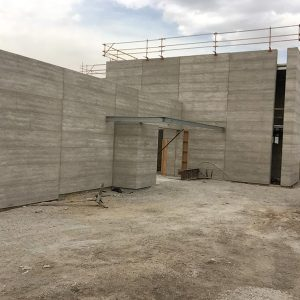 Olnee Rammed Earth work on a Harkaway project