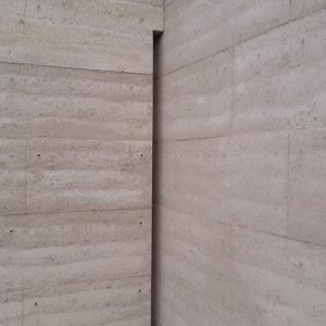 Rammed earth wall in Macedon