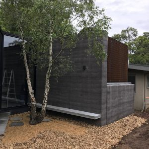 Olnee rammed earth houses, walls and construction
