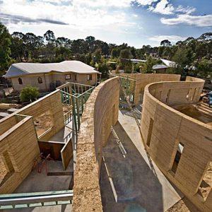 Rammed earth houses   Olnee Earth