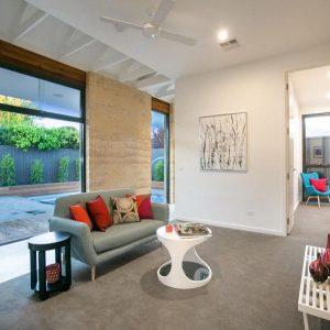Rammed earth home - project in Sandringham, Melbourne, Australia