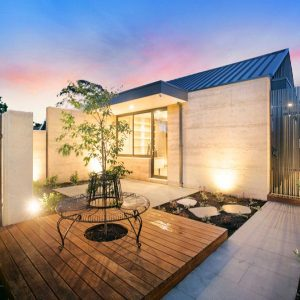 Rammed earth home - project in Sandringham, Melbourne, Australia