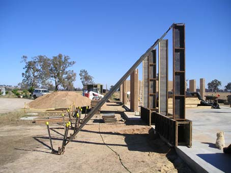 Rammed earth home process
