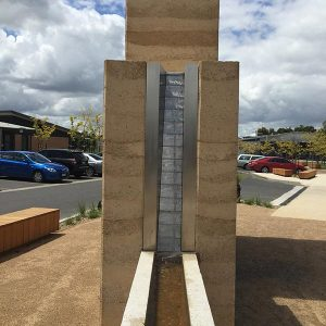 Rammed earth walls in Berwick, Melbourne, Australia