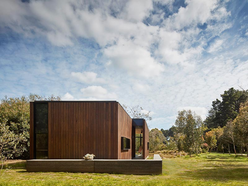 Take a look at the gallery of Olnee's rammed earth completed residential projects