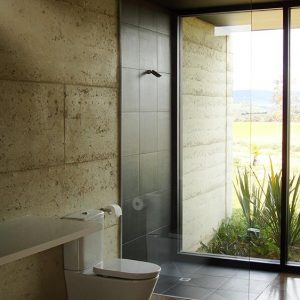 Cobaw rammed earth project, north of Melbourne