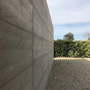 Rammed earth completed project in Macedon