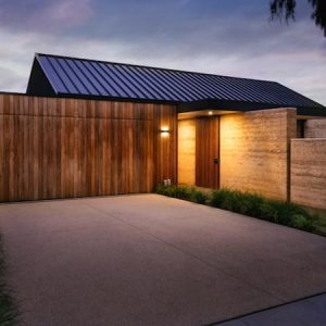 Sandringham rammed earth project, Melbourne