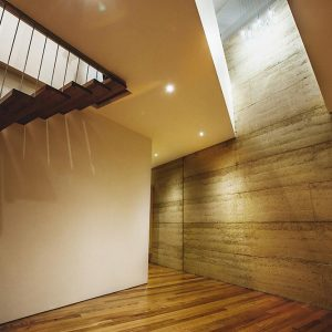 Aquaduct rammed earth project