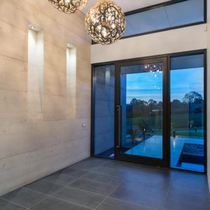 Warragul home, built in part with rammed earth by Olnee Earth